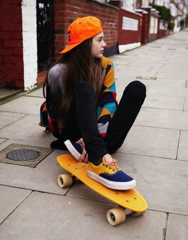 Neon Skate Babe #vans