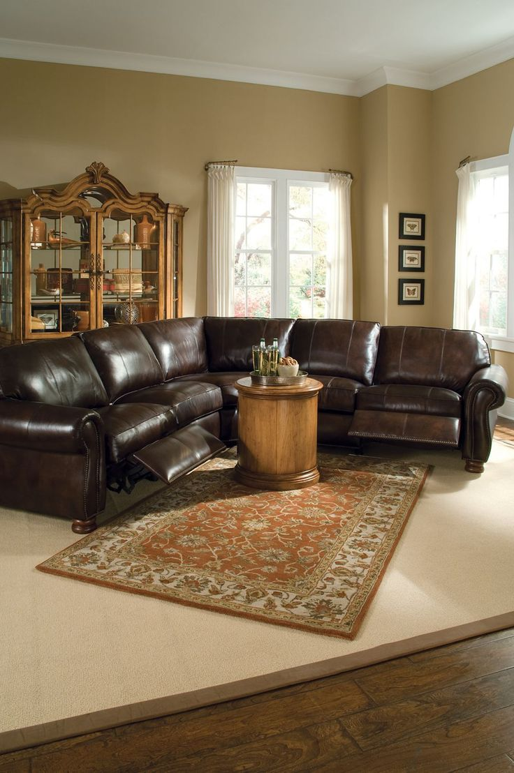Shop For Thomasville Benjamin Motion Sectional, 20901 And Other Living Room  Sectionals At Slone Brothers In Longwood, FL Leather: Double Fudge.