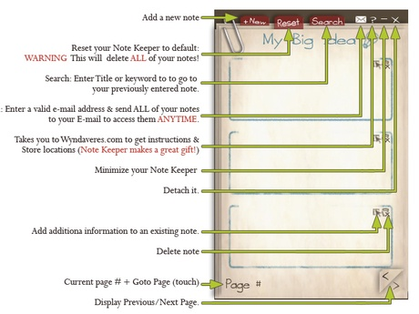 Second Life Marketplace - -W-My Big Idea Note Keeper Hud (copy) builder planner student business event reminder notekeeper