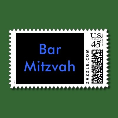Bar Mitzvah stamps.  What a cute idea! I didn't know they made these!