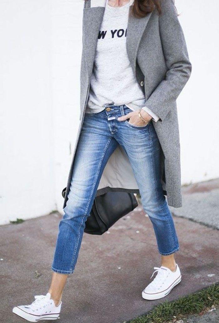 grauer Mantel Herbstmode aktuelle Trends Damenmantel – Mode & LifeStyle