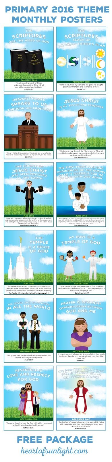 FREE 2016 Primary Theme Poster and Binder Package | @heartofsunlight | #heartofsunlight