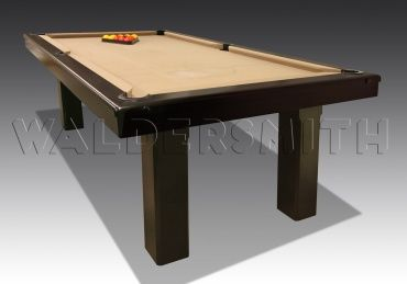 7ft Brooklyn English-Style Pool Table - The Brooklyn is in a class all of its own, showcasing a number of diverse traits. Clear distinct lines are the most prominent feature of this elegant table, made from African Kotibe wood. Kotibe is a popular material for the construction of pool tables, due to its resolute strength and faultless quality.