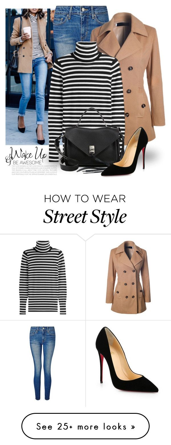 """""""Cold & Winter 2752"""" by boxthoughts on Polyvore featuring WALL, Levi's, WithChic, Steffen Schraut, Rebecca Minkoff and Christian Louboutin"""