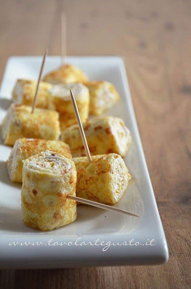 Ricotta crepes rolls - Recipe