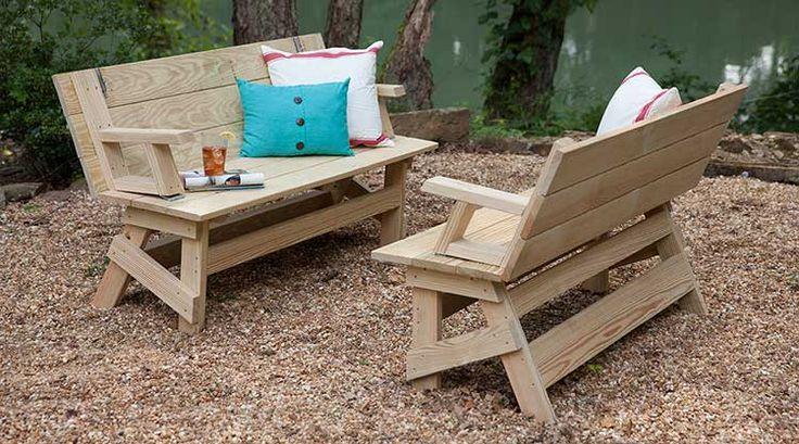 780 best wood yard projects images on Pinterest Woodworking, Wood - plan pour fabriquer un banc de jardin