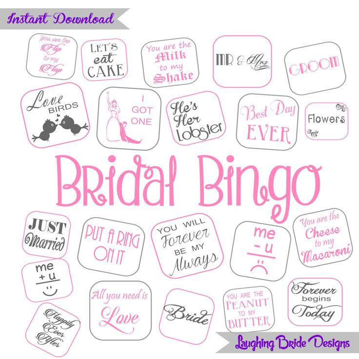 SALE** 30 cards Bridal Bingo Bridal Shower Bingo Hen Party Game Bachelorette Party instant download Pink Grey by LaughingBrideDesigns on Etsy https://www.etsy.com/listing/239775775/sale-30-cards-bridal-bingo-bridal-shower