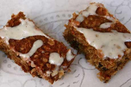 Oat and carrot slice