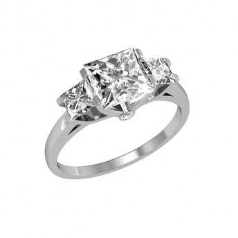3-stone engagement ring.
