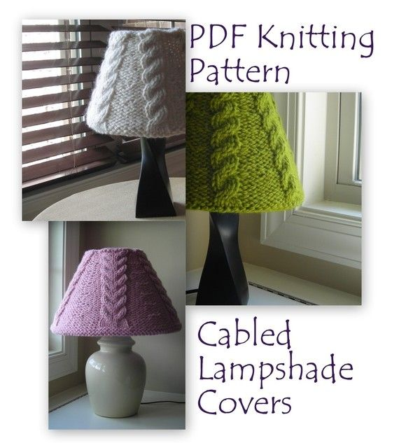 Lampshade Cover Knitting Pattern Pdf Download Knitted