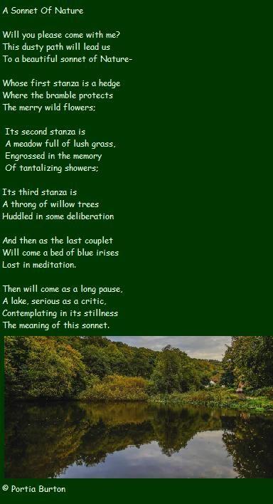 Sonnet of Nature- © Portia Burton