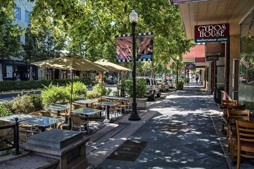 Castro Street, Downtown Mountain View, California great street for a relaxed stroll, window shopping and a cup of coffee....