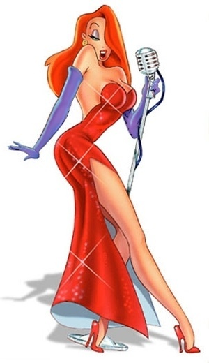 I know, this is technically cheating since Jessica Rabbit is a cartoon character. Shes still an inspiring hourglass figure. Remember, shes not bad... shes just drawn that way.