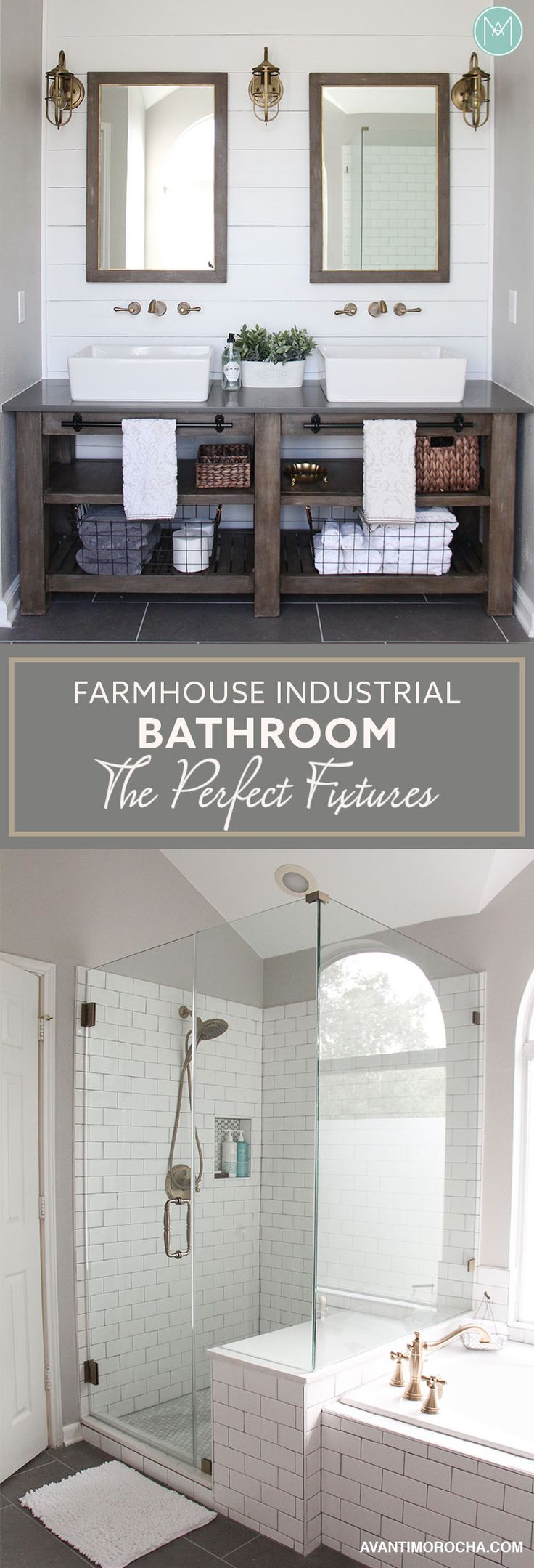 Industrial Farmhouse Bathroom – The Perfect Fixtures -