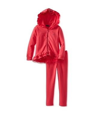 56% OFF Blumarine Girl's Sweatsuit with Tulle (Fuchsia)