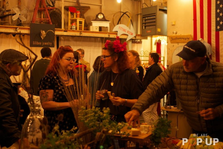 Guests were treated to a bounty of locally sourced snacks   - A #re-purposed, #vacant #auto #shop which has been #taken #over by a #group of #creative #makers to #create a #brand #new #retail #experience