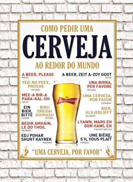 PLACA DECORATIVA - Como Pediru uma Cerveja  30x20xm