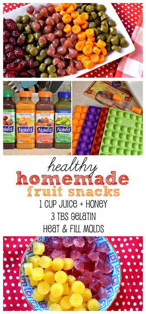 Easy fun healthy DIY fruit snacks using only 3 ingredients! :)