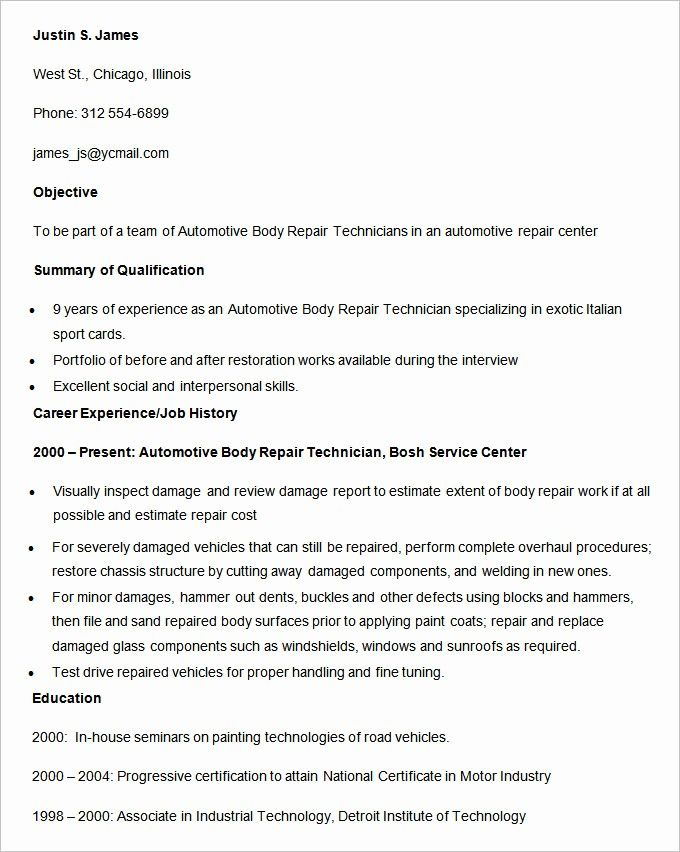 Lovely Automobile Resume Templates 25 Free Word Pdf Documents Resume Template Resume Template Free Resume Examples