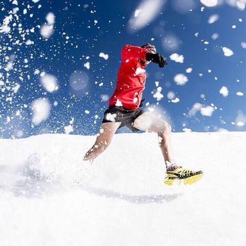 Snow running in Matroosberg - Ryan Sandes
