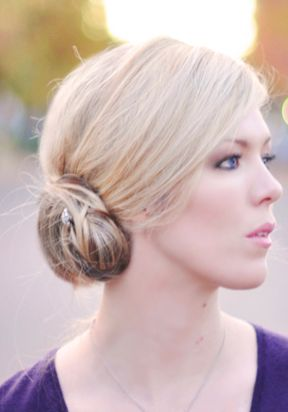 This low side bun hair tutorial is perfect as a simple solution or as an elegant updo.