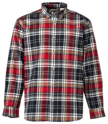 RedHead Ultimate Flannel Shirts for Men - Black/Red - XLT