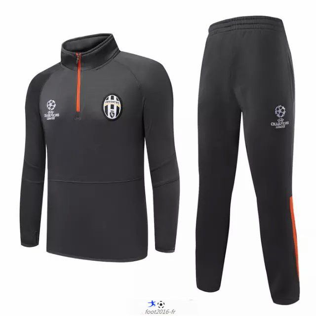boutique fff Nouveau Champions league Survetement de foot Juventus Gris 2015 2016 grossiste