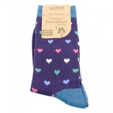 Braintree Bamboo Purple Heart Socks