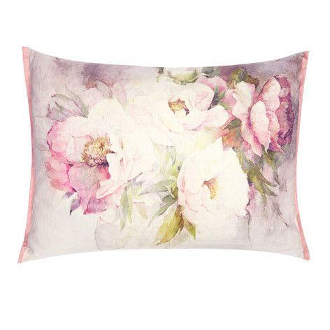 peonies cushion by laura ashley