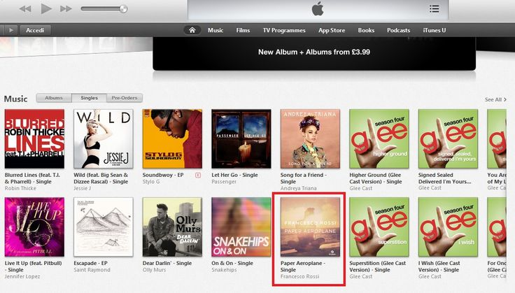 In Home Page su iTunes UK