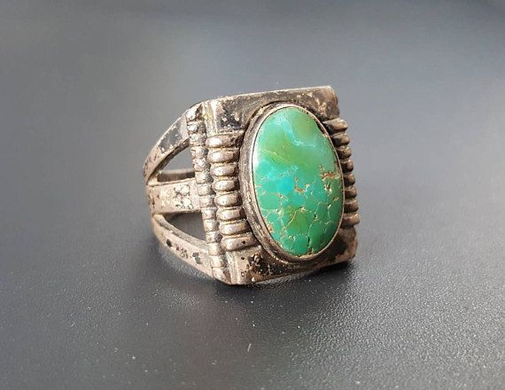 Check out this item in my Etsy shop https://www.etsy.com/listing/551264224/art-deco-mens-turquoise-ring-sterling