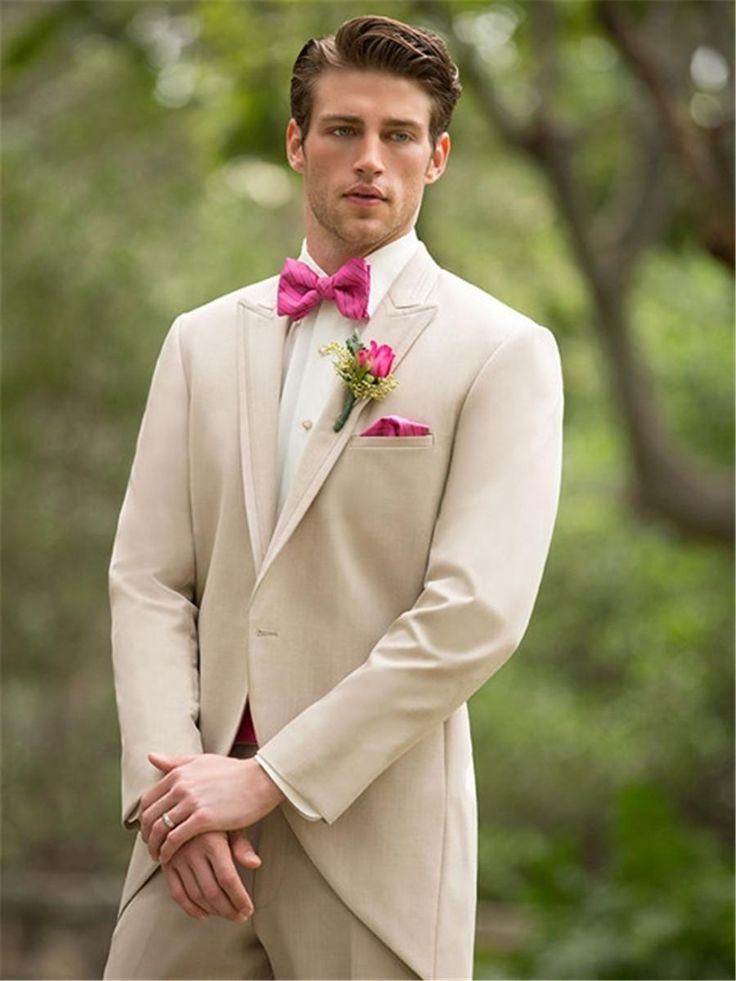 Suits For Sale Swallow Tailored Coat Beige 2014 Newest Evening Dress Groom Tuxedos One Buttons Lapel Men's Business Formal Suits Man Swallow Tailed Blazers Dress For Mens From Flip_zone, $97.87| Dhgate.Com