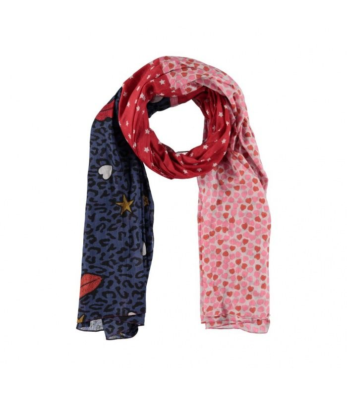 Rode sjaal met opdruk|Rode sjaal met opdruk koop je bij versteegh|Snelle levering