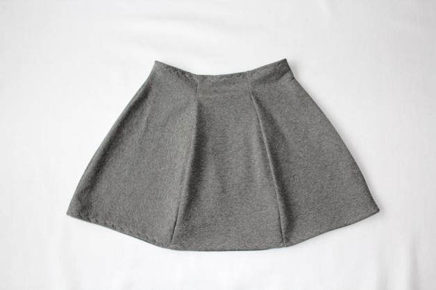 RoomStyle Spódnica Dresowa Siwa Rozkloszowana - RoomStyle - Spódniczki dla dziewczynek