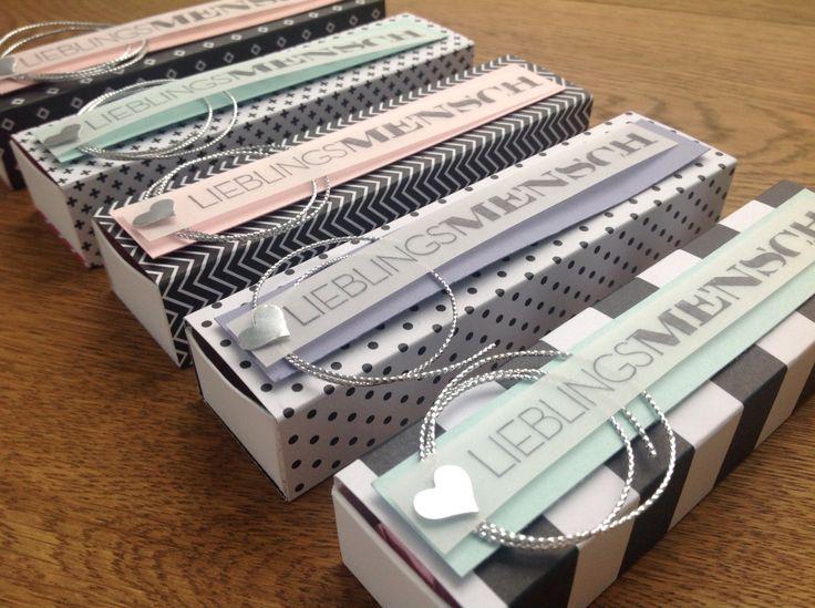 Lovelycrafts, Stampin Up!, Alexandra Renke, Verpackung, schwarz weiß, Designpapier, pastelltöne, Lieblingsmensch