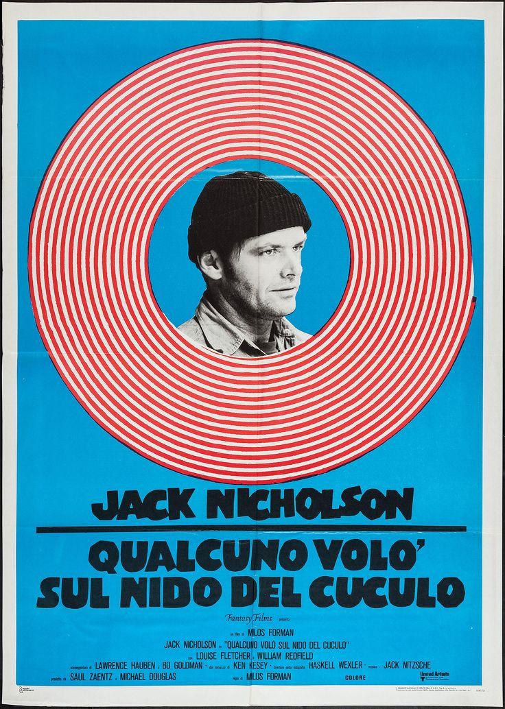 One Flew Over the Cuckoo's Nest (Milos Forman, 1975) Italian 2-foglio design