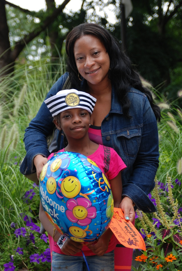 """Both her daughter and son attend The Fresh Air Fund's camps, ABC and Hayden-Marks respectively. """"I missed them,"""" this city mom remarked. """"But they wrote me and said how much fun they were having! I can't wait to hear all about it."""""""