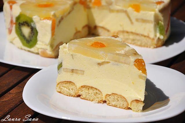 Tort Diplomat   Retete culinare cu Laura Sava