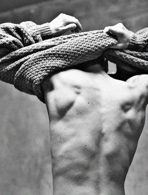Guys Body / Black and White Photography