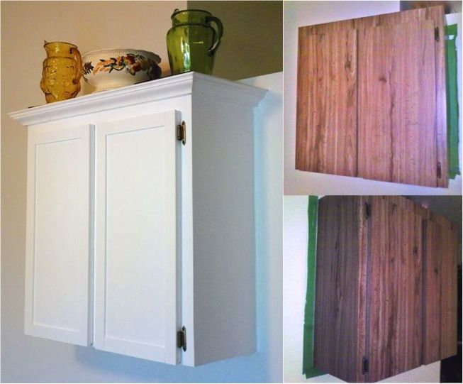 Yes! This ugly Formica cabinet was successfully refinished with DIY chalk paint.
