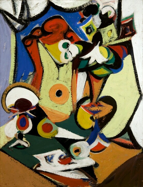 Arshile Gorky was an Armenian American painter, who had a seminal influence on Abstract Expressionism. As such, his works were often speculated to have been informed by the suffering and loss he experienced of the Armenian Genocide.
