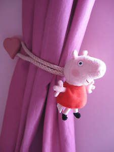 PEPPA-PIG-CHILDRENS-BEDROOM-CURTAIN-TIE-BACKS-pair