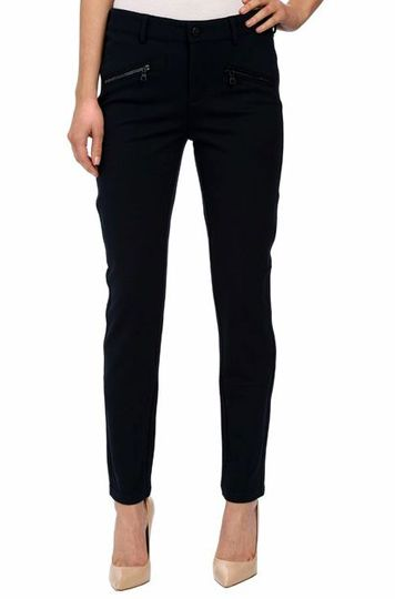 Enjoy the look our Legging while experiencing all the benefits of our slimming Lift Tuck® Technology. Our luxurious double knit Ponte is a season must-have and goes with virtually anything in your wardrobe. Front button zip fly close and stylish front zip trim details, means you can have a polished look and a comfortable feel that pairs perfectly with flats or heels.