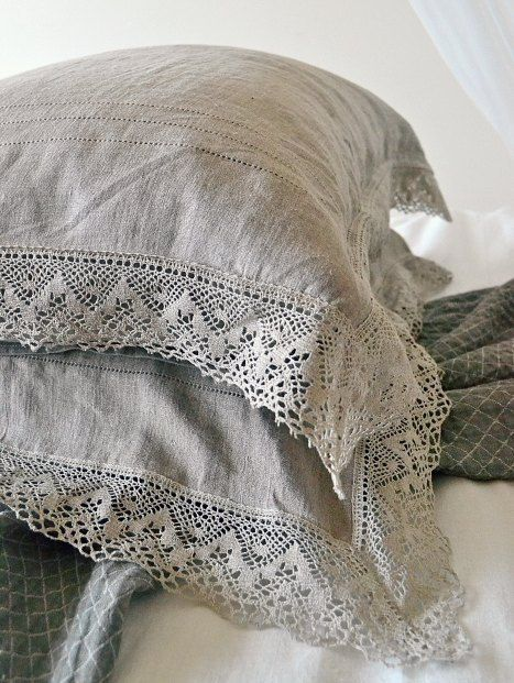 Natural softened linen pillow case by HouseOfBalticLinen on Etsy