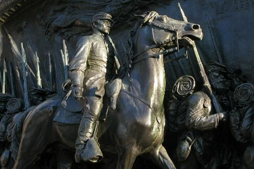 The Robert Gould Shaw Memorial is part of Boston's Black Heritage Trail. Inside the Boston Common along the outside pathway.