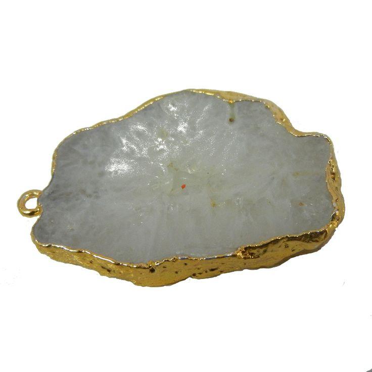 White Druzy Geode Pendant. WWW.INDIANGEMSTONEEXPORTERS.COM WWW.MANUFACTURERFINESILVERJEWELRY.COM