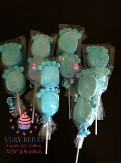 Veryberry Cupcakes: BOY BABY SHOWER MARSHMALLOW POP FAVORS