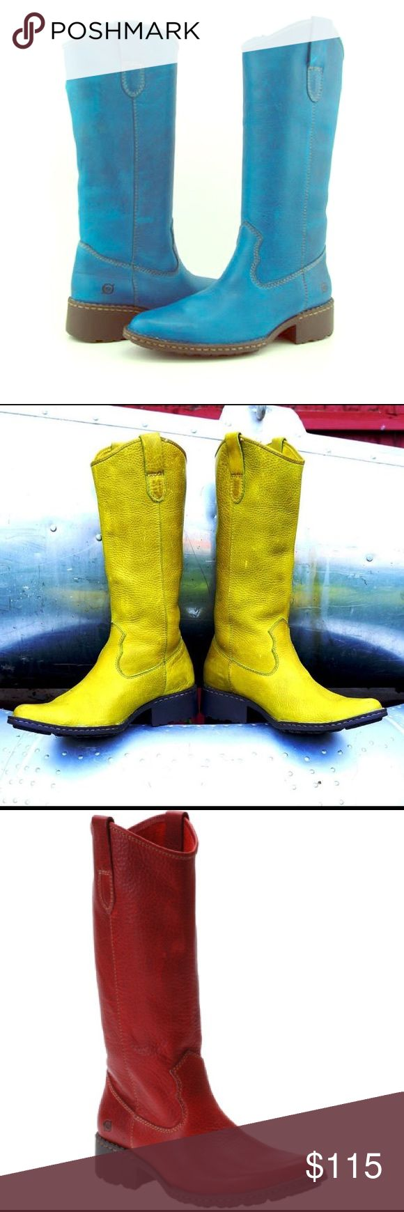"""ISO born shavano western cowboy boots size 7 ISO (NOT FOR SALE - IN SEARCH OF THESE) born """"shavano"""" cowboy wester boots size 7. Would love them in blue/teal/turquoise, but would also buy the yellow/chartreuse or red ones. Please comment if you have some or know where I could find a pair!! Born Shoes"""
