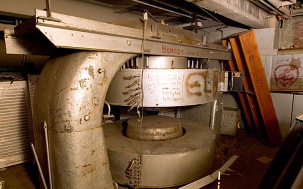 "25 Jan 39: Enrico Fermi, John Dunning and associates split the uranium atom for the first time in the 75-ton cyclotron in the basement of Pupin Hall at Columbia University in New York City. Known as ""atom smashers,"" cyclotrons, first invented in the early 1930s, accelerate atoms through a vacuum and use electromagnets to induce collisions at speeds up to 25,000 miles per second. The results of such experiments provided valuable clues about the behavior of atoms. #WWII #History"