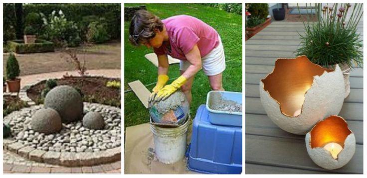 Hogyan készíthetünk kertünk díszítésére alkalmas dolgokat egyszerű alapanyagokból